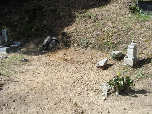 ② 旧墓地のお墓の撤去後