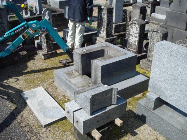 ② 墓石の解体作業